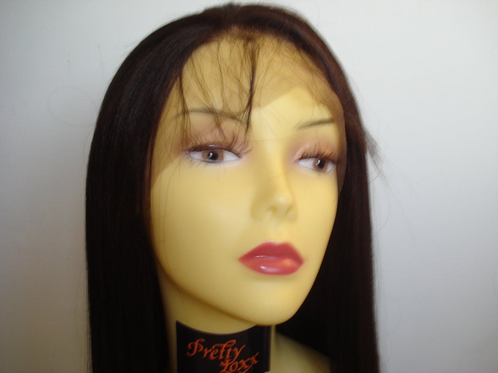 "Synthetic Lace front unit by Pretty Loxx Colour 2 yaki 18"" - PrettyLoxx"