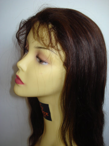 "Malaysian virgin Refurbished Silk Top Lace Wig by Pretty Loxx Colour 1b 16"" long 002"