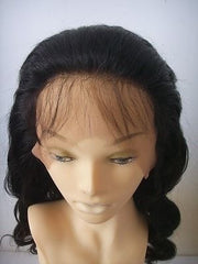 "Pretty Loxx Indian Remy Body Wave Hair Silk Top Full Lace Wig 16"" col 1b - PrettyLoxx"