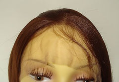 "Synthetic Lace front unit by Pretty Loxx Colour 4 yaki 14"" long - PrettyLoxx"