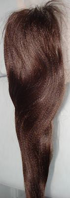 "Pretty Loxx Indian Remy Lace Closure 12"" Col 2 Yaki all col & lengths avail"