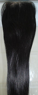 "Pretty Loxx Indian Remy Lace Closure Yaki texture 12"" 14"" 16"" 18"" col 1, 1b, 2"