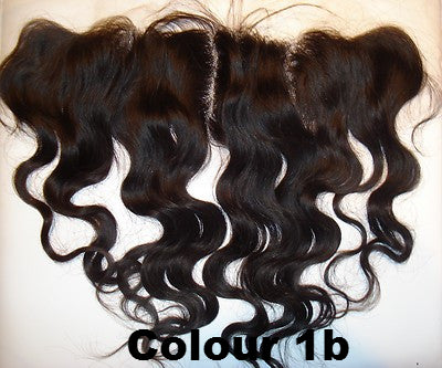 "Pretty Loxx Indian Remy Lace Frontal Body Wave 12"" 14"" 16"" 18"" col 1,1b, 2"