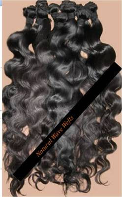 "Pretty Loxx Brazilian Virgin Wefts Natural Wave 12"" 14"" 16"" 18"" col 1,1b, 2"