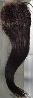 "Pretty Loxx Indian Remy Straight Lace Closure 14"" Colour 1b"