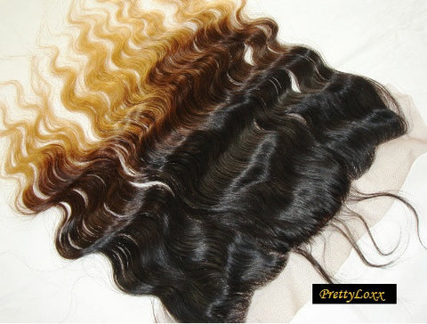 PrettyLoxx SILK TOP Lace Frontal Brazilian Ombre Body Wave
