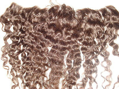 "Pretty Loxx Indian Remy Afro/Yaki Wave Lace Frontal, 12"" Col 2"