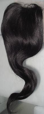 "Pretty Loxx Indian Remy Yaki Lace Closure 12"" Colour 1 - PrettyLoxx"