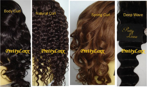 Choose your hair texture- free of charge