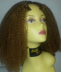 Pretty Loxx Indian Remy U Part Wig Afro