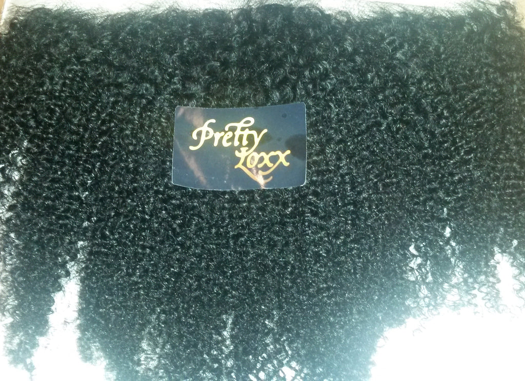 "PRETTY LOXX 12""  AFRO CURL INDIAN REMY FRONTAL COL 1 - PrettyLoxx"