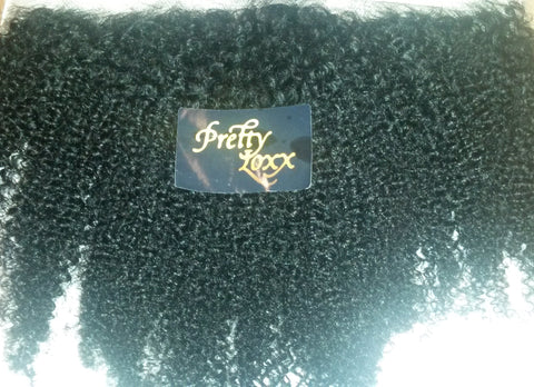 "PRETTY LOXX 12""  AFRO CURL INDIAN REMY FRONTAL COL 1"