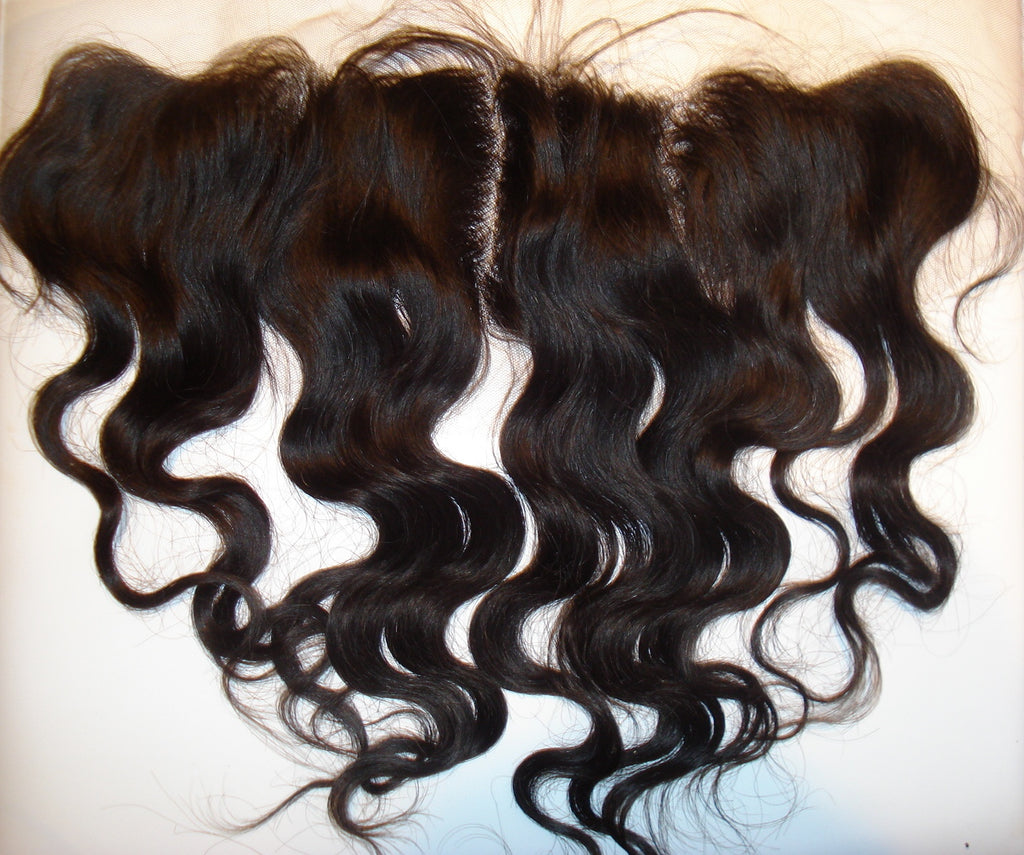 "12"" Body Wave INDIAN REMY FRONTAL COL 1b - PrettyLoxx"