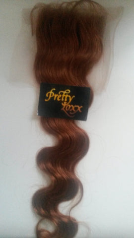 PrettyLoxx Indian Remy Silk Closure Body Wave
