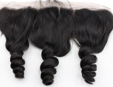 Pretty Loxx Brazilian Virgin Lace Frontal Bouncy Curl
