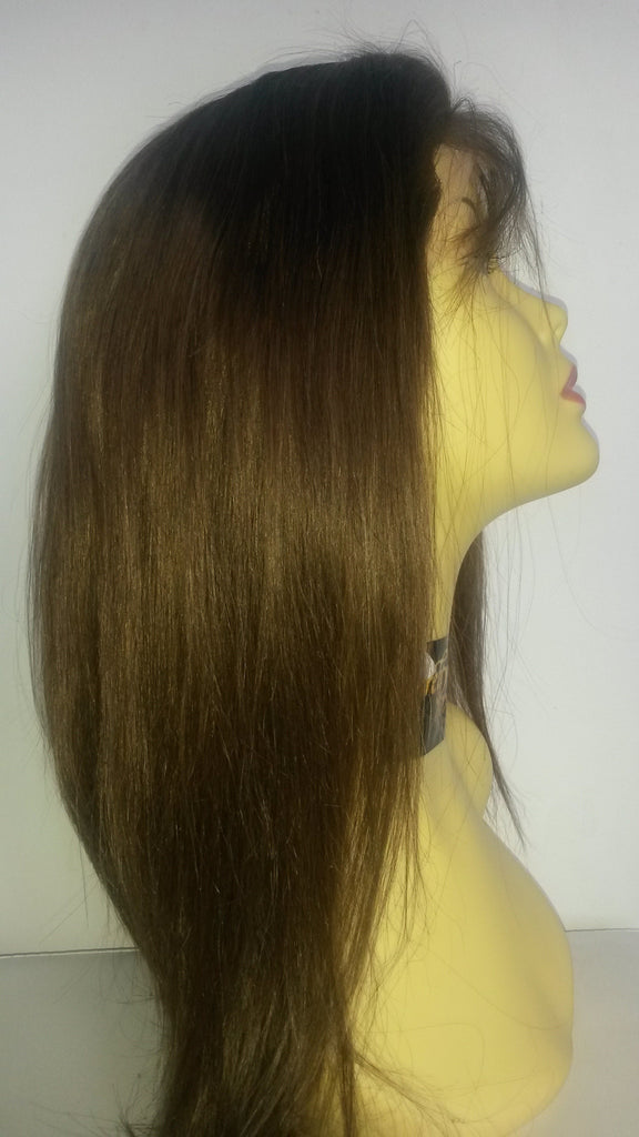 PrettyLoxx Indian Remy Silky Straight Silk Top Lace Wig colour 4 SALE - PrettyLoxx