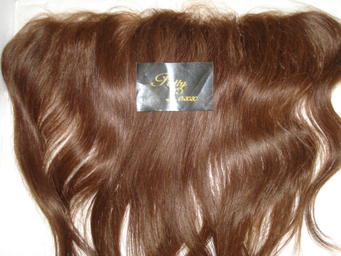 "PRETTY LOXX 12"" SILKY STRAIGHT INDIAN REMY FRONTAL COL 4 SALE"