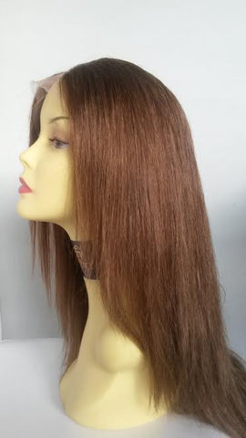 "PrettyLoxx Indian Remy U Part Lace Wig 16"" col 6 Layered"