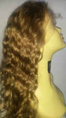 "Pretty Loxx Indian remy Wavy Full Lace Wig 18"" col 8 - PrettyLoxx"