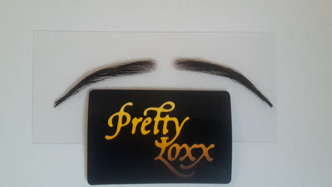 Pretty Loxx Lace eyebrows with free adhesive HIGH DENSITY NARROW