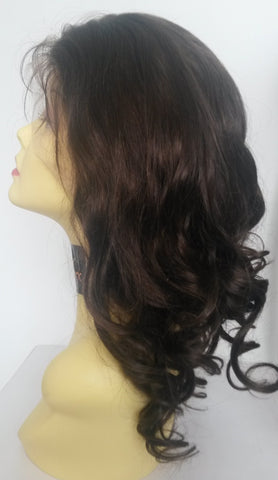 "Pretty Loxx Indian Remy Glamour Curl Full Lace Wig 14"" col 2 150% density"