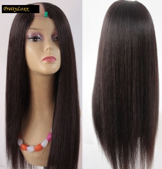 Pretty Loxx  Brazilian Virgin U Part Wig Yaki Straight - PrettyLoxx