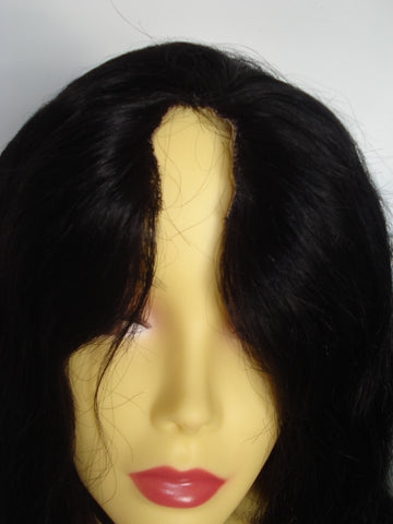 "Pretty Loxx Indian Remy Refurbished U Part Lace Wig 18"" col 1"