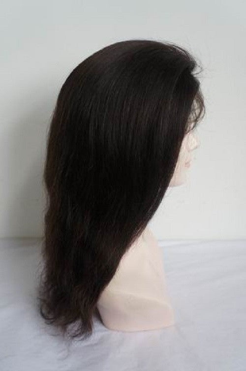 "Refurbished Straight Malaysian Virgin Full Lace wig by Pretty Loxx Colour 1b 16"" long - PrettyLoxx"