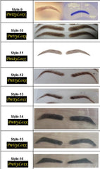 PrettyLoxx PU 'thin skin' real hair Eyebrows & Free Adhesive SHAPE 10 - PrettyLoxx