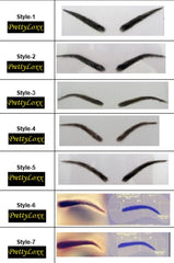 PrettyLoxx PU 'thin skin' real hair Eyebrows & Free Adhesive SHAPE 14 - PrettyLoxx