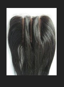 Pretty Loxx Indian Remy 3 Partings Lace Closure Silky Straight texture