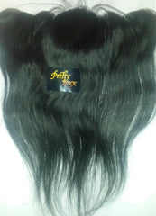 PrettyLoxx SILK TOP Brazilian Virgin Lace Frontal Natural Straight