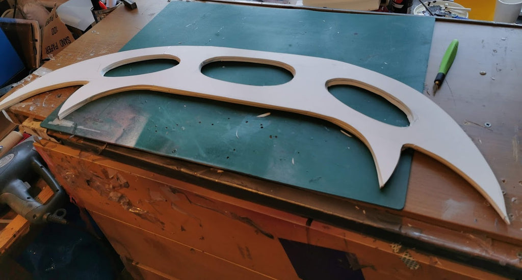Home Made Klingon Bat'leth (part 1)