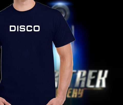 Star Trek Discovery: DISCO Tee shirt.  Cool Star Trek Clothing