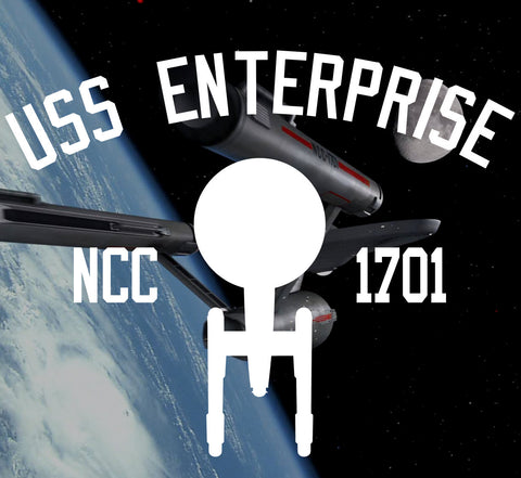 Star Trek USS Enterprise NCC 1701 (Original Series) Tee Shirt - Starship Enterprise - Bad Wolf Clothes