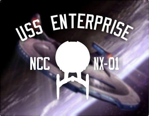 USS Enterprise NX-01 Tee Shirt. Star Trek: Enterprise Star ship print - Bad Wolf Clothes