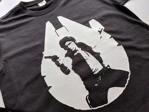 Star Wars, Han Solo Tee Shirt - Solo: A Star Wars Story - Millennium Falcon Tee shirt - Bad Wolf Clothes