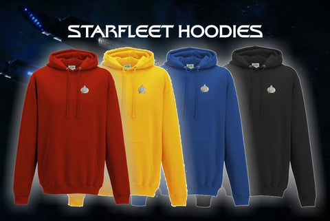 Star Trek Hoodie - Star Trek The Next Generation - Starfleet badge - Embroidered Star Trek Top - - Bad Wolf Clothes