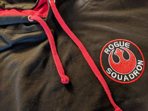 Star Wars - Rogue Squadron Embroidered Hoodie - Pull over or zip up versions available!