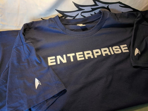 Star Trek Enterprise t shirt.  Cool Star Trek Clothing - Bad Wolf Clothes