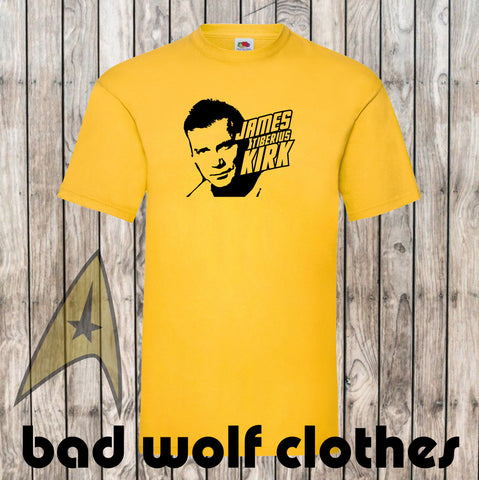 Star Trek - Captain Kirk T Shirt - 5 different colours