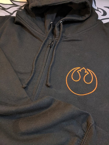 Star Wars Rebel Zipped Hoodie - Larger sizes available - Bad Wolf Clothes