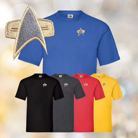 Star Trek - Starfleet Embroidered Tee Shirts - Voyager, DS9 Design