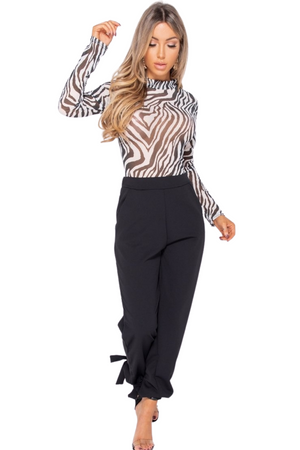 On The Prowl Zebra Bodysuit