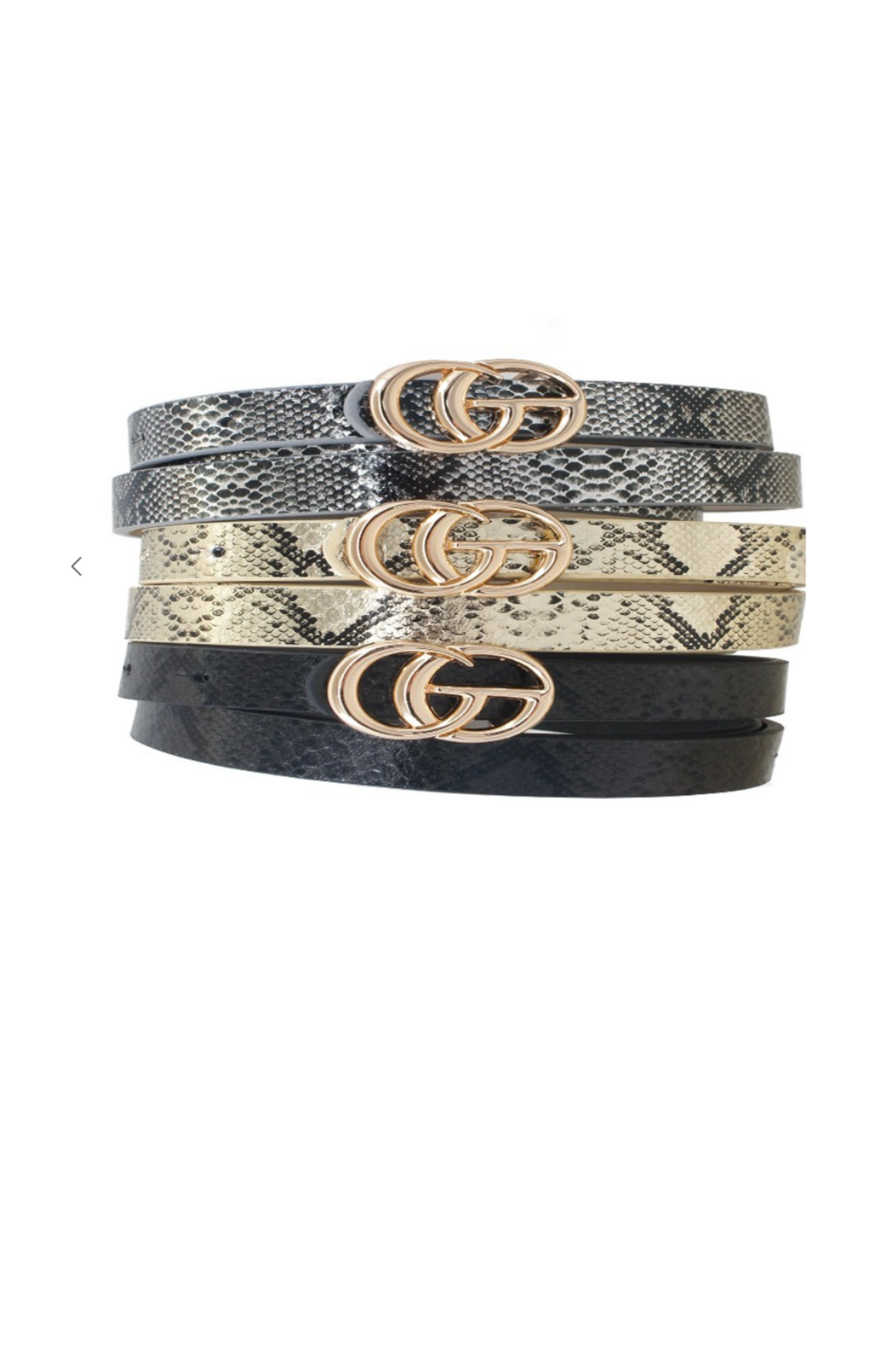 Snakeskin Thin Belt