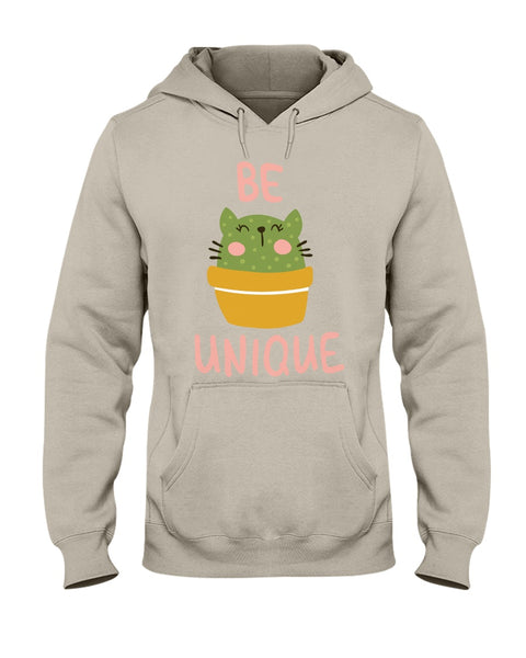 """Be Unique"" Unisex Cat Hoodie"