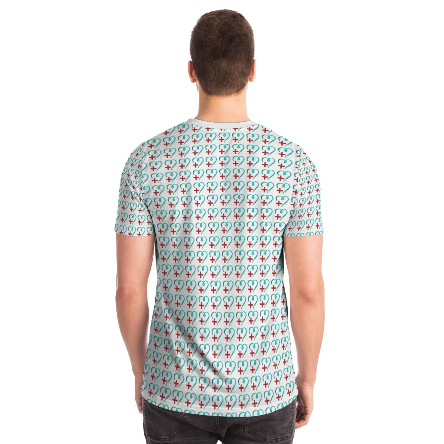 Healthcare Heart Pattern Tee