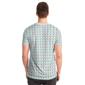 Healthcare Heart Pattern Tee (red pocket)