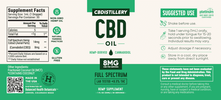 CBDistillery : 250mg Full Spectrum CBD 30ml