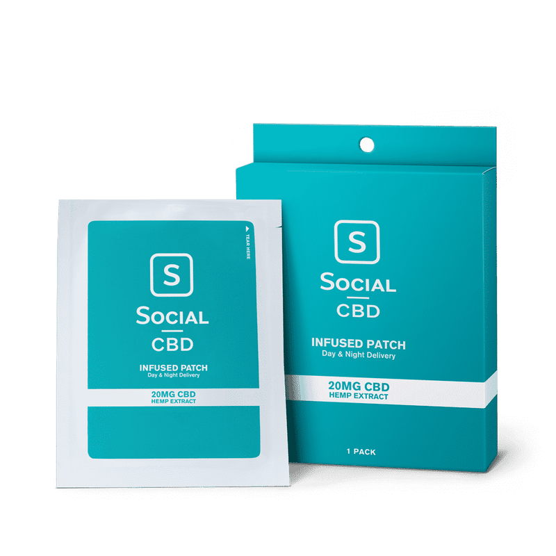 Social CBD : CBD Transdermal Patch 20mg